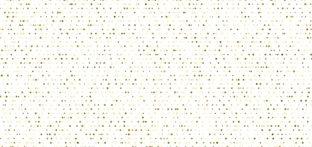 Abstract small gold dots seamless pattern on white background.