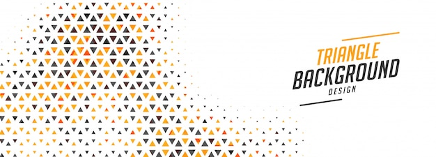 Абстрактный маленький треугольник баннер в двухцветном дизайне