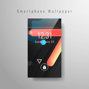 Abstract smartphone wallpaper trendy design
