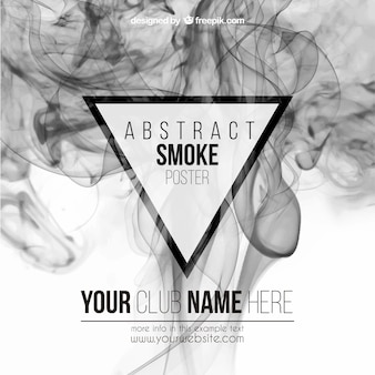 Abstract smoke poster