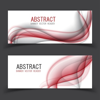 Abstract smooth blurred grey waves banner or header