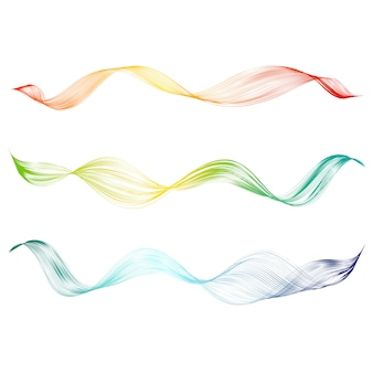 Abstract smooth curved line set