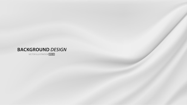 Abstract smooth elegant luxury white fabric texture  background with copy space.