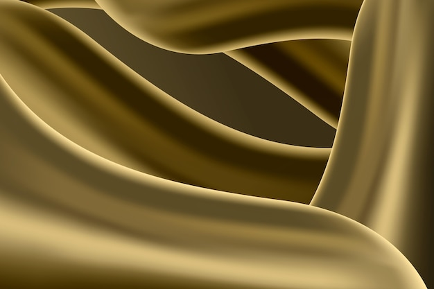 Abstract smooth golden wave background