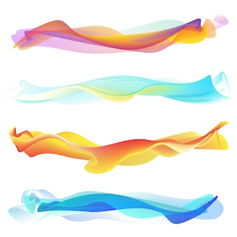Abstract smooth wave set.