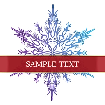 Abstract snowflake illustration card. creative and luxury gradient style greeting image