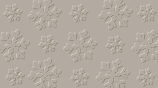 Abstract snowflakes background in paper art design