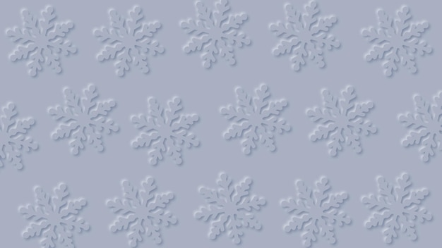 Abstract snowflakes on grey background