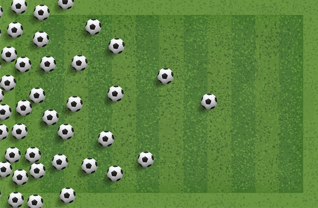 Abstract soccer ball for background.