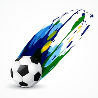 Abstract soccer paint design
