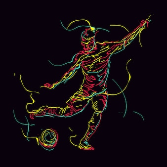 Abstract soccer player illustration