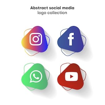 Abstract social media logo collection