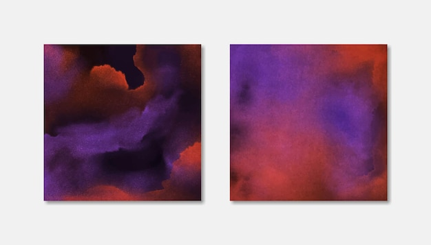 Abstract social media square watercolor backgrounds for halloween