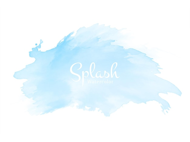 Abstract soft blue watercolor splash design background vector