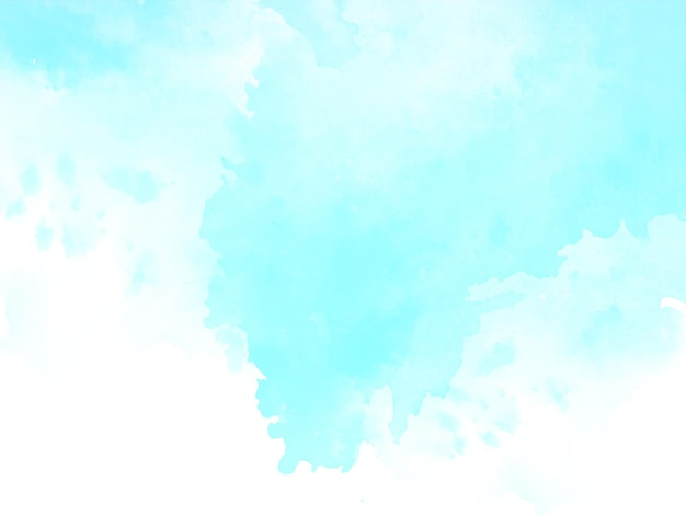 Abstract soft blue watercolor texture design background