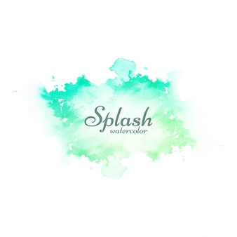 Abstract soft green watercolor splash design