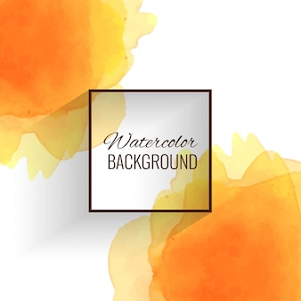 抽象的なソフトオレンジの水彩の背景