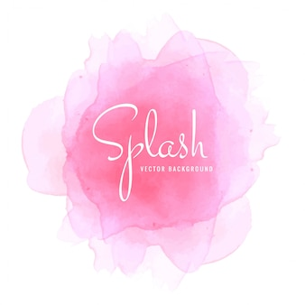 Abstract soft watercolor pink background vector