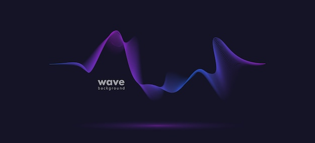Abstract sound motion wave gradient line background.