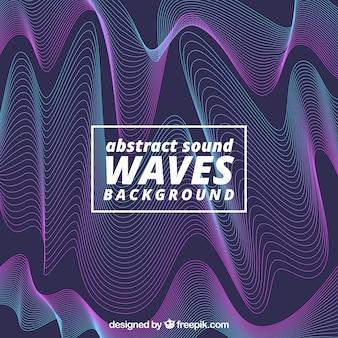 Абстрактный фон звуковой волны Бесплатные векторы
