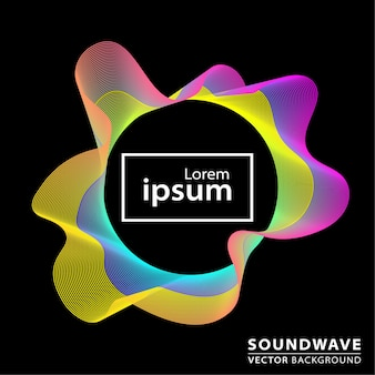 Abstract sound wave background