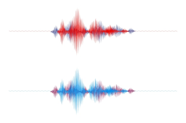 Abstract sound wave on white background.