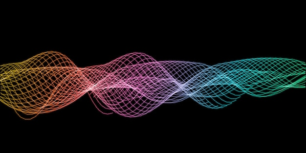 Abstract sound waves design background