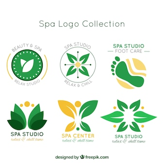 Abstract spa logo collection