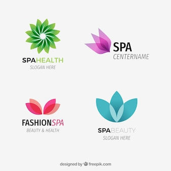 Abstract spa logotypes