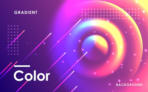 Abstract space circle color background