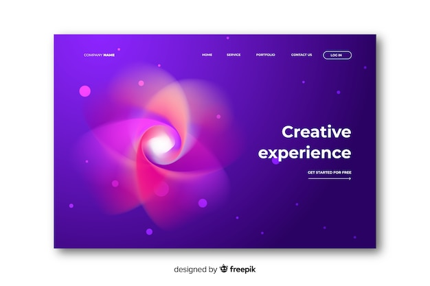 Abstract space delusion landing page