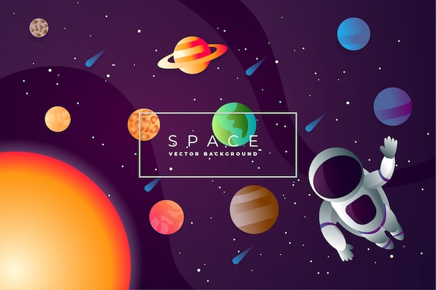 Abstract space exploring background vector