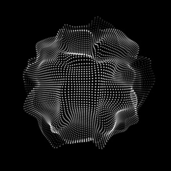 Abstract space particles shape
