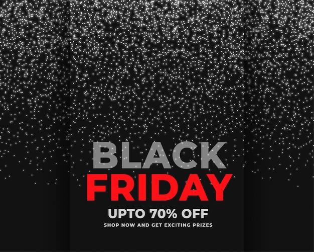 Abstract sparkles black friday sale banner