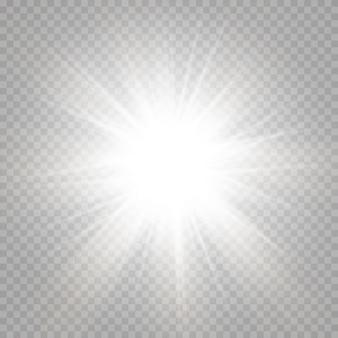 Абстрактная игристое блики с игристое солнце на желтом и оранжевом фоне. теплое солнце, которое наполнено естественными лучами света блики. изолированный
