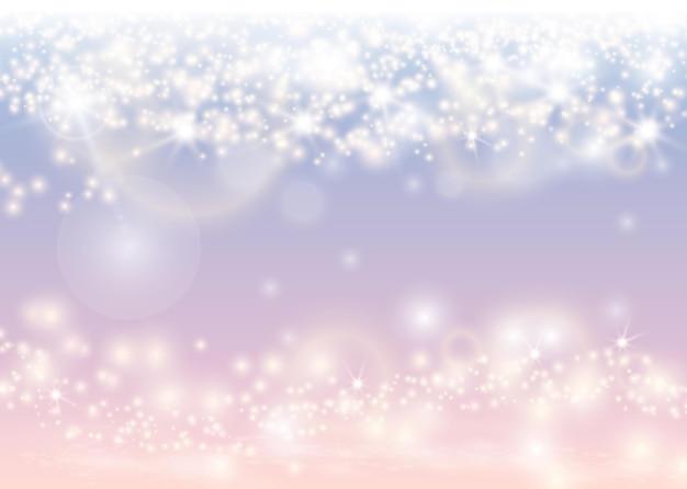 抽象的なきらめく光の輝きの背景。クリスマスの光沢のある壁紙