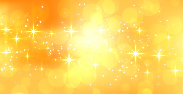 Abstract sparkling yellow banner with text space