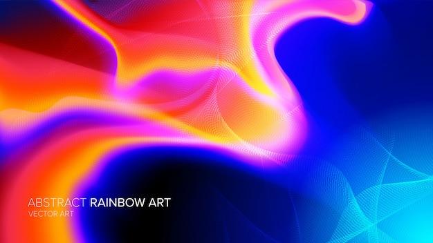 抽象的なスペクトルアート