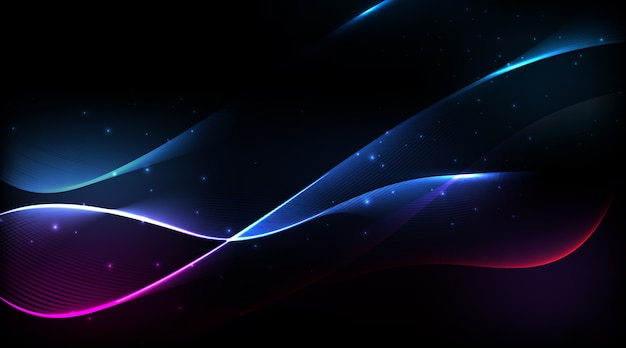 Abstract spectrum curved lines background