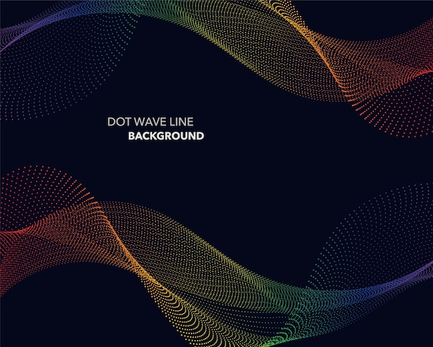 抽象的なスペクトル勾配波、点線、未来的なスタイルの背景