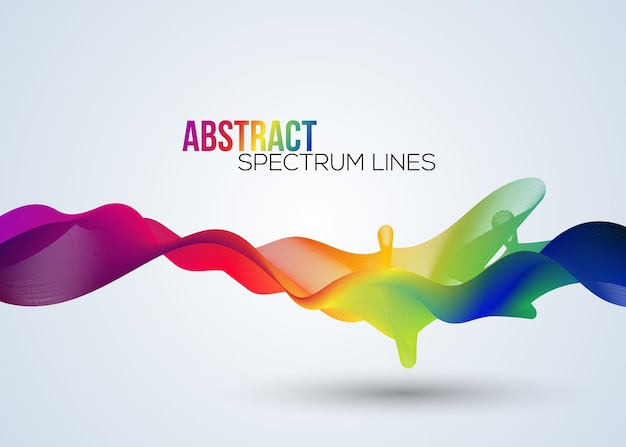 Abstract spectrum line in vector