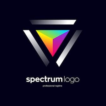 Abstract spectrum logo