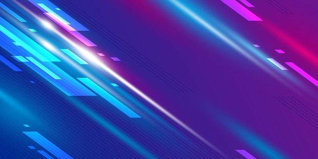 Abstract speed banner design
