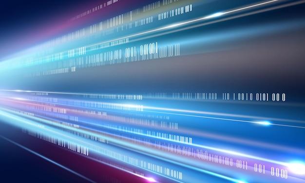 ダイナミックな抽象的なスピードラインの背景ポスター。技術ネットワークベクトル図。