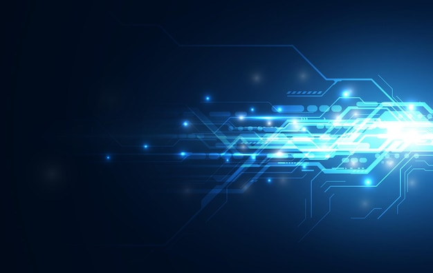 Abstract speed line network computing sci fi innovative concept design background