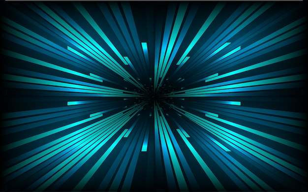 Abstract speed lines background. dark blue zoom radial motion move