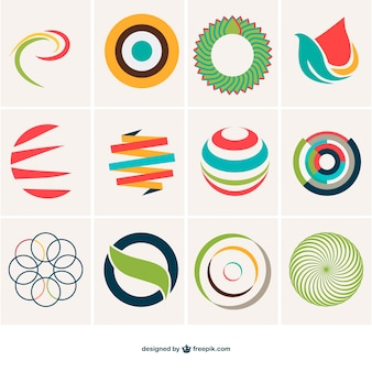 Abstract sphere logo template