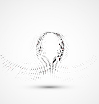 Abstract spiral technology dynamic fade background