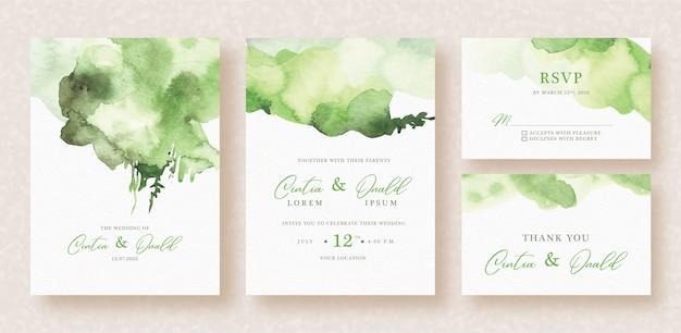 結婚式の招待状に抽象的なスプラッシュ水彩画