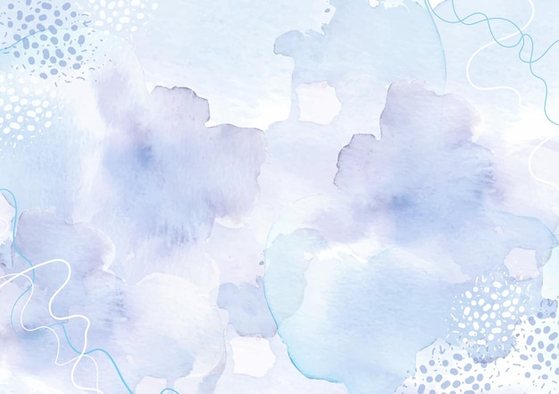 Abstract splash watercolor of purple and grey with dot and shapes combination